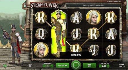 Steam Tower fra NetEnt – Spill gratis på nett