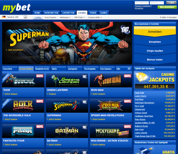 Casino Lobby Mybet Gratis