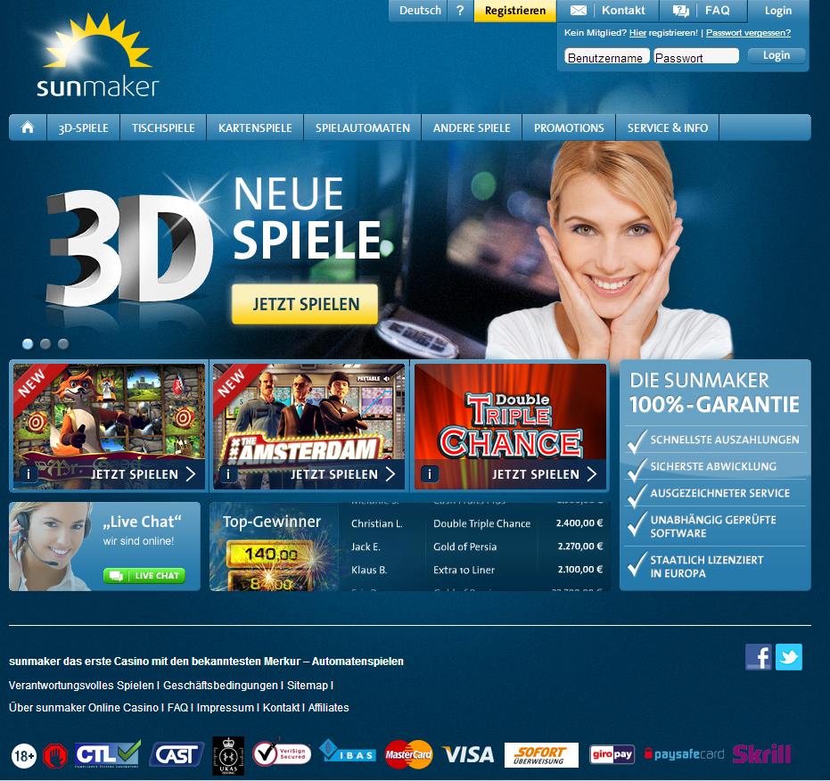 Online Casino Sunmaker