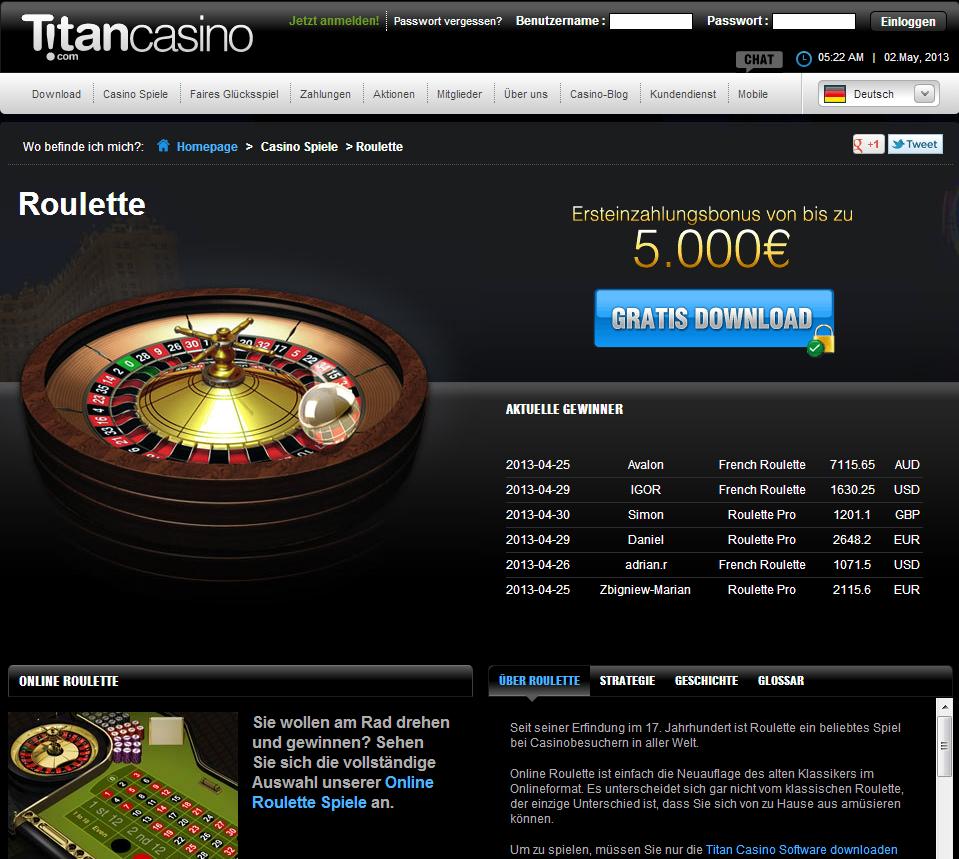 бонусы казино титан