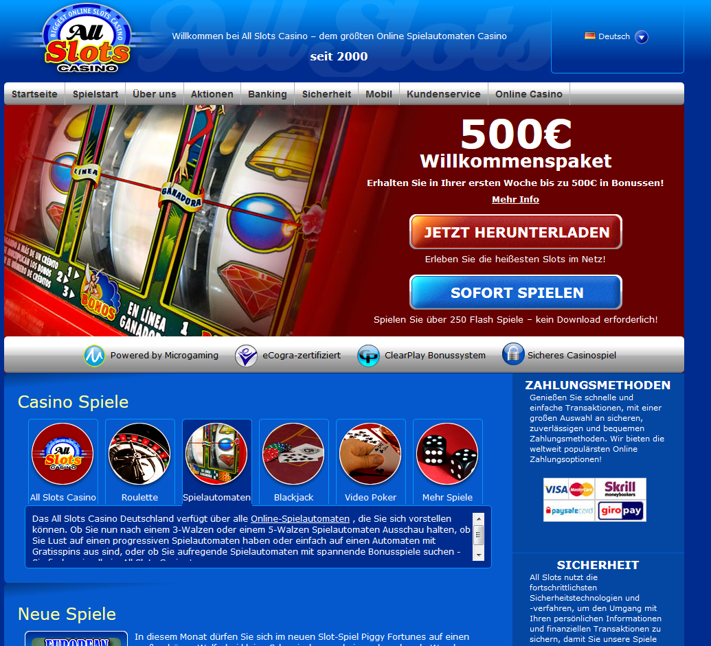 All Slots Casino Spielen