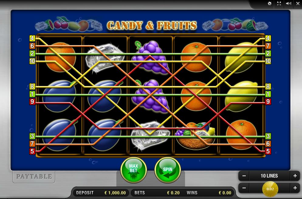 Candy and Fruits Slots - Spielen Sie online gratis oder mit echtem Geld