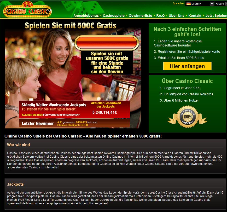 online casino bewertung classic casino