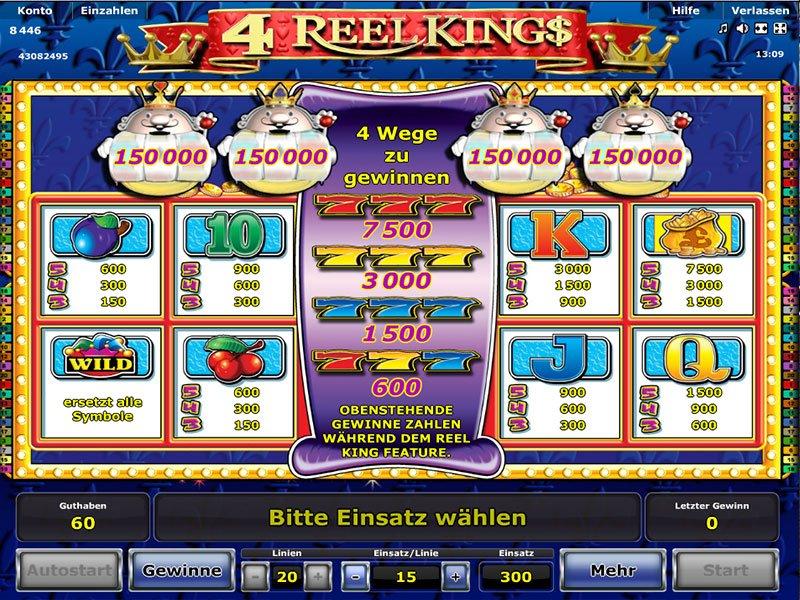 4 Reel Kings kostenlos spielen | Online-Slot.de