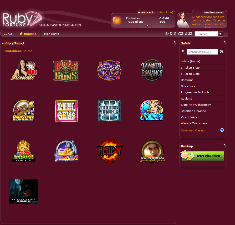 ruby fortune casino download