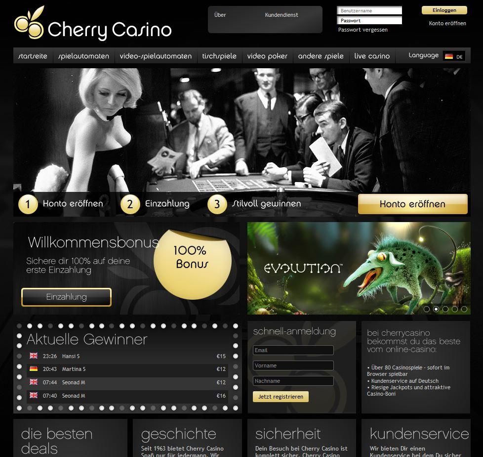 Cherry Casino-Gutscheincode - Bonus und Freispiele ohne Einzahlung