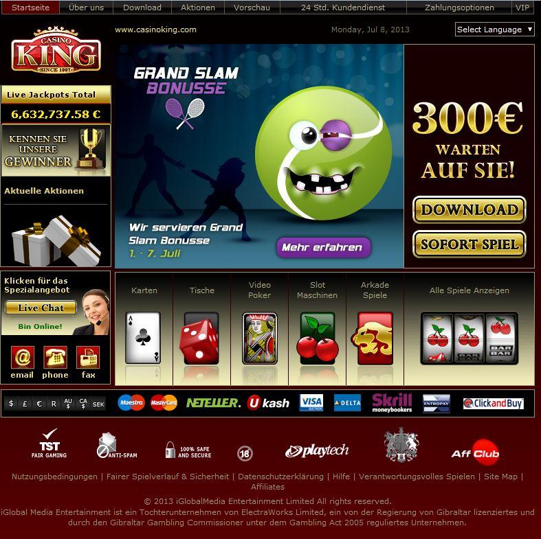 online vegas casino king jetzt spielen
