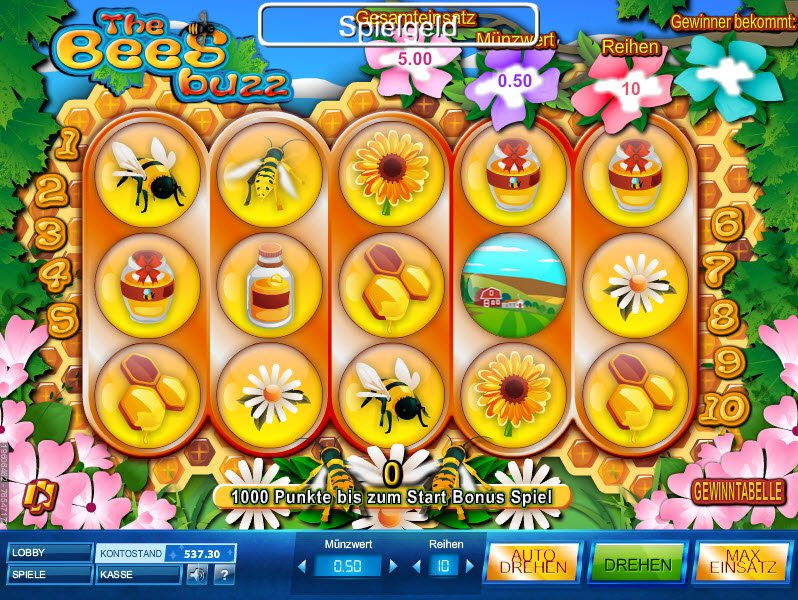 Play The Free Slot The Bees Buzz With No Download
