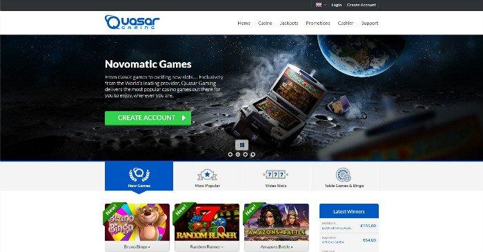 Quasar Gaming Novomatic