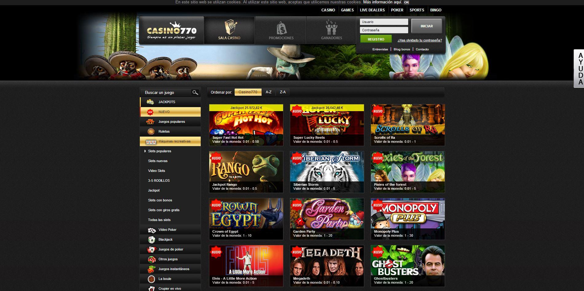 Casino 770 Juegos Gratis