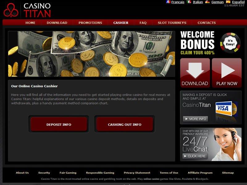 titan казино бездепозитный бонус