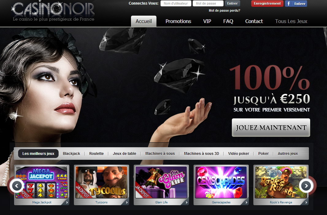 Promotions and bonuses at Casino Noir
