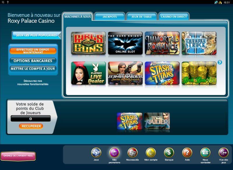 roxy palace casino en ligne