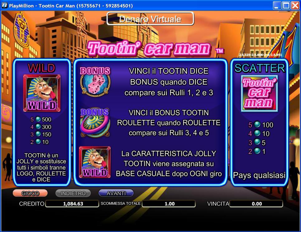 Tootin Car Man Slot Machine
