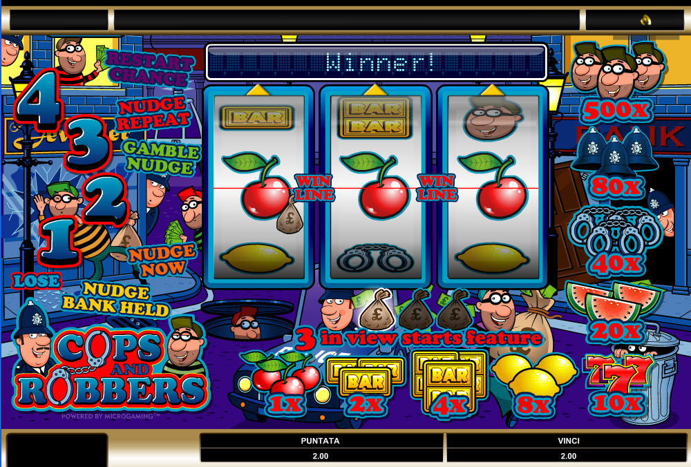 online slots spielen cops and robbers slot