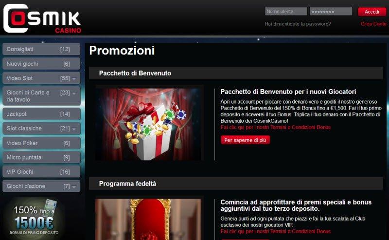 cosmik casino online