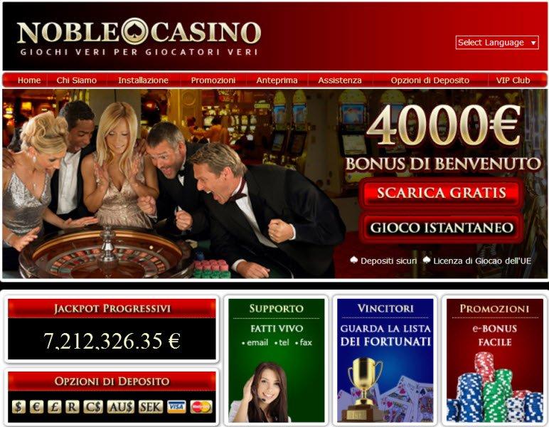 Noble casino bonus
