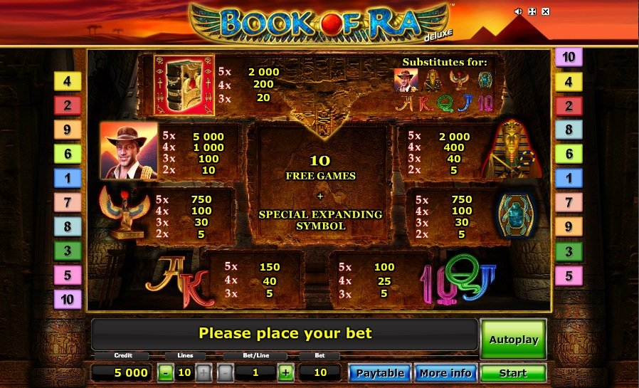 gioco slot book of ra gratis