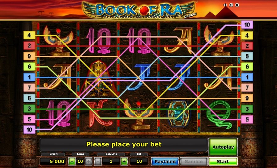 giocare gratis a slots machine book of ra