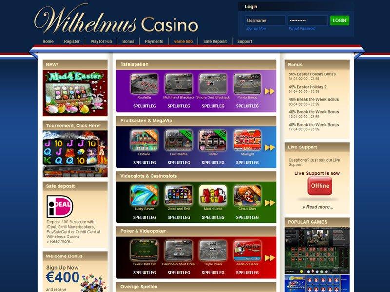 Wilhelmus casino montecasinos sandton parking