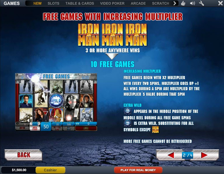 Iron Man 2 slot online - spil gratis nu