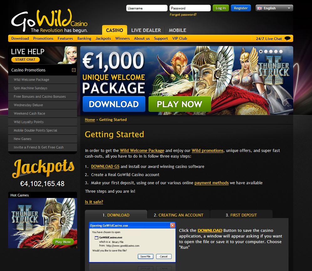 Go Wild Casino Thunderstruck 2