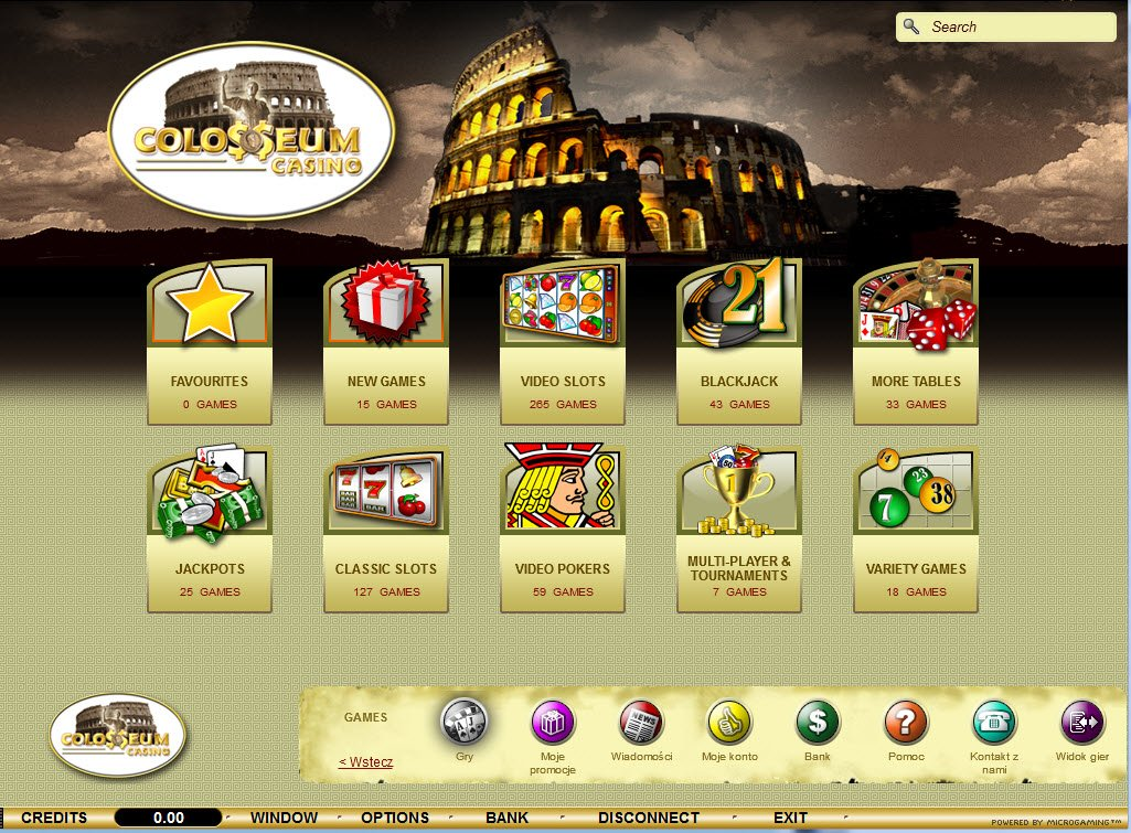 Colosseum casino microgaming operations management and casino