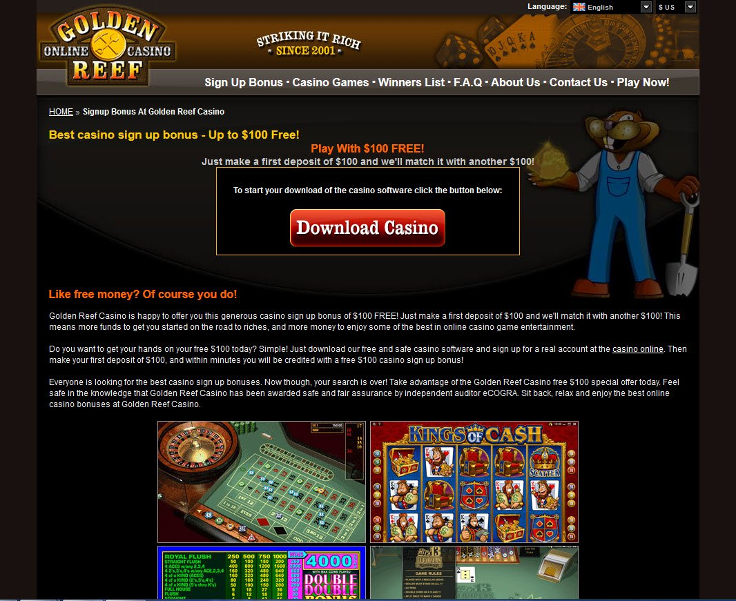 Golden reef online casino texas casino ship