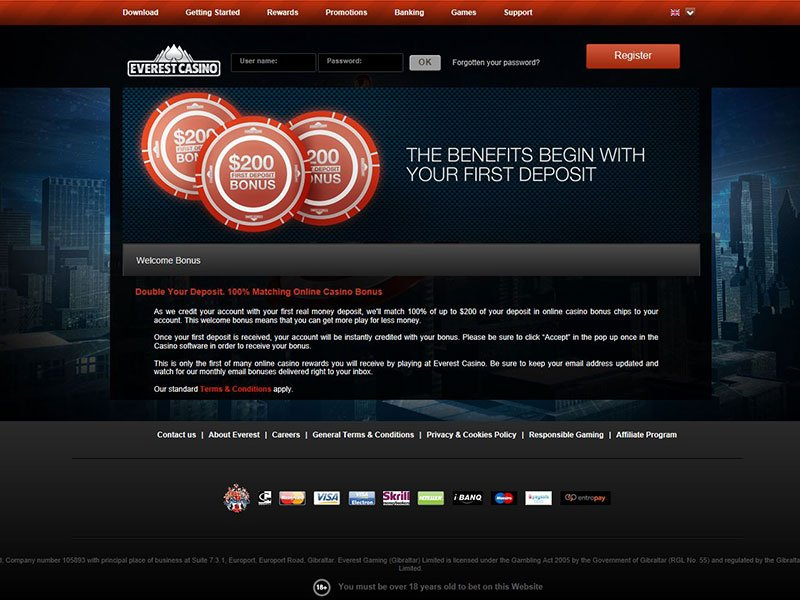 Everest casino no deposit bonus 2013 casino empty slot machine