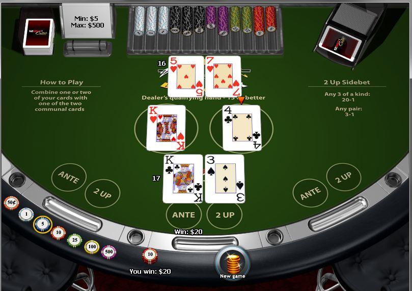 Jogo de cartas 21