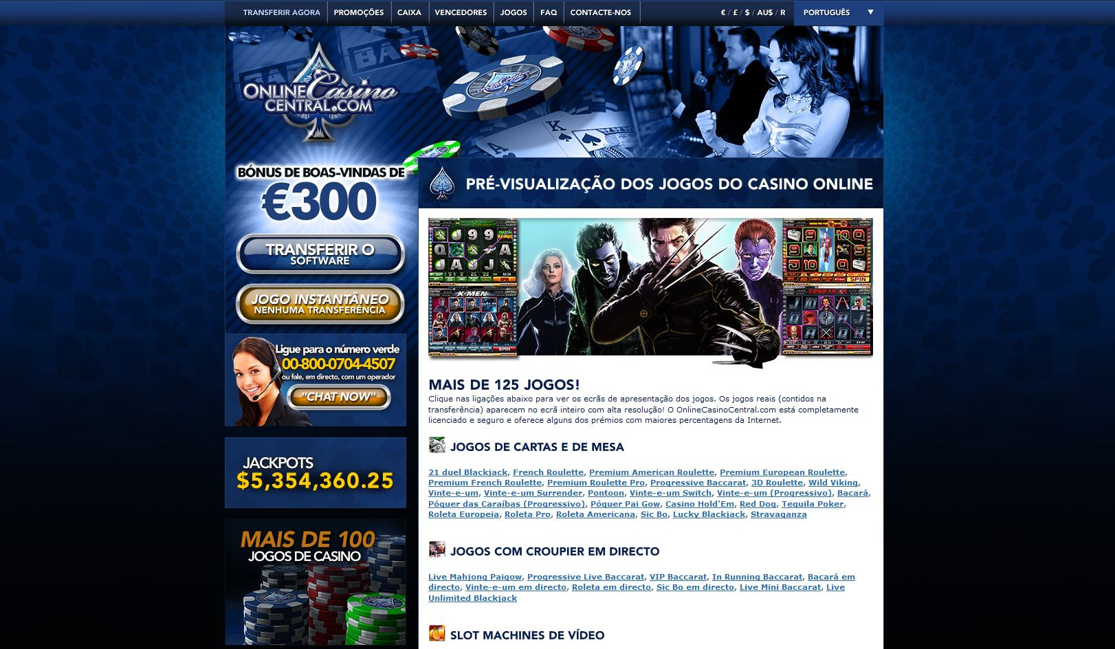 Canadiske online casino central