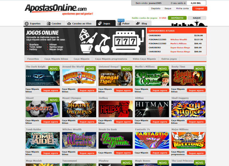 Apostas online e casino