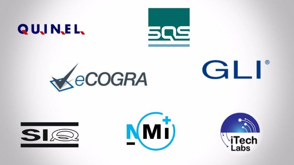 logótipos de programas de jogo seguro e testado em casinos portugueses.