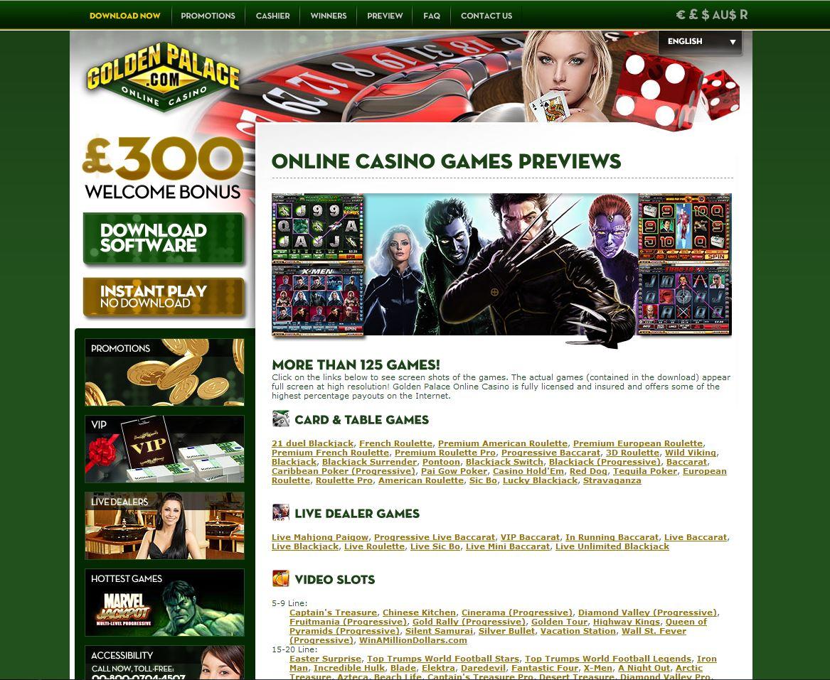 интернет казино голден палас