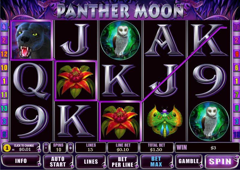 игровой автомат panther moon playtech