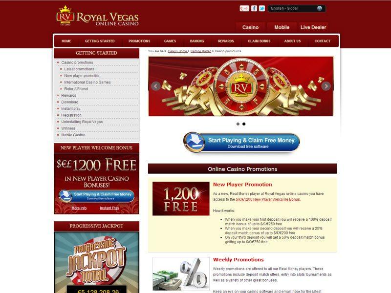 revenue royal vegas casino