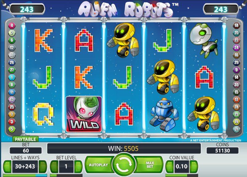 Alien robots описание игрового автомата