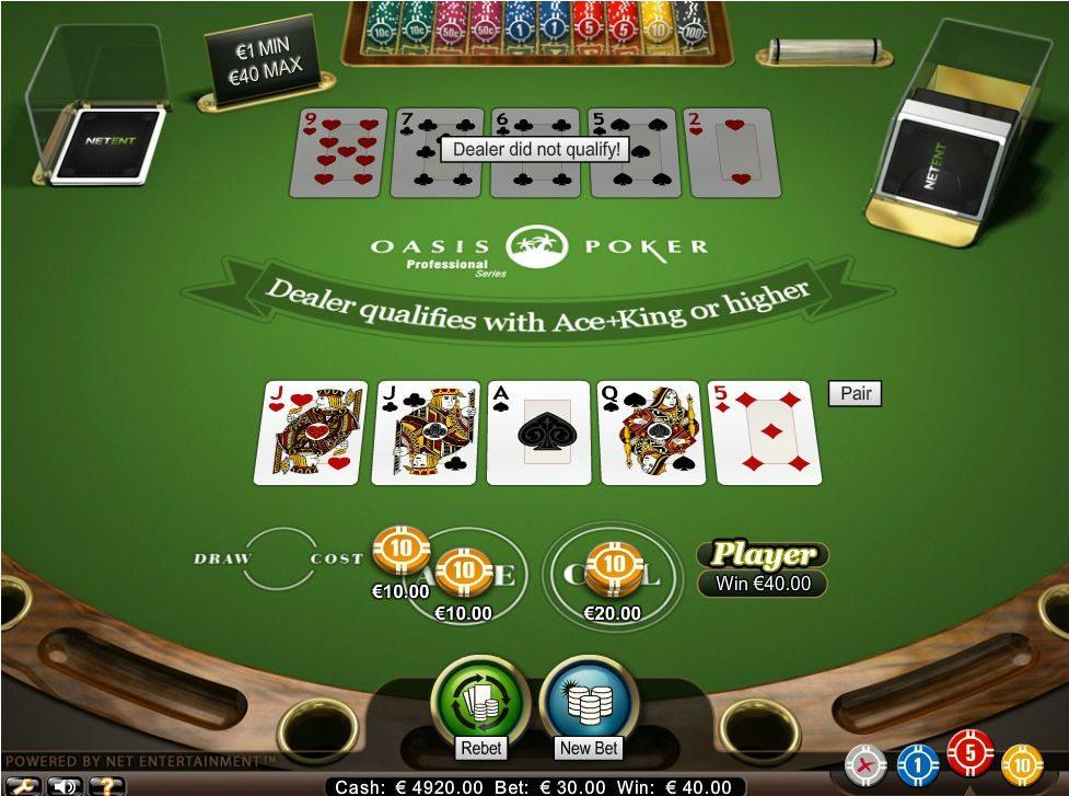 oasis poker netent