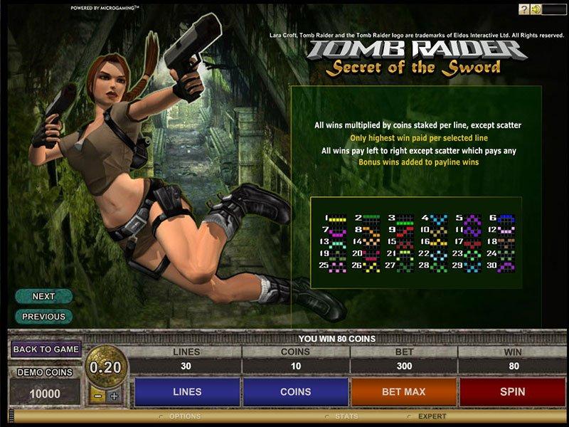 Tomb Raider Spelautomat - Spela Onlinespelet Gratis