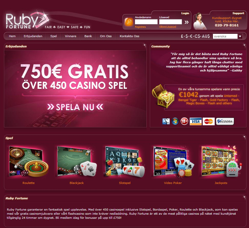 online casino ruby fortune