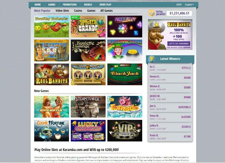 karamba online casino login