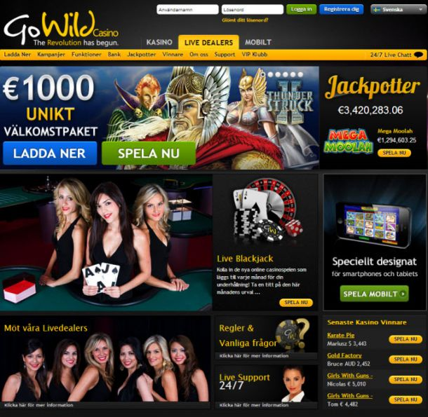 Go Wild Casino Opinie