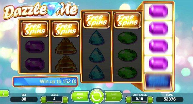 Dazzle Me™ Slot spel spela gratis i NetEnt Online Casinon