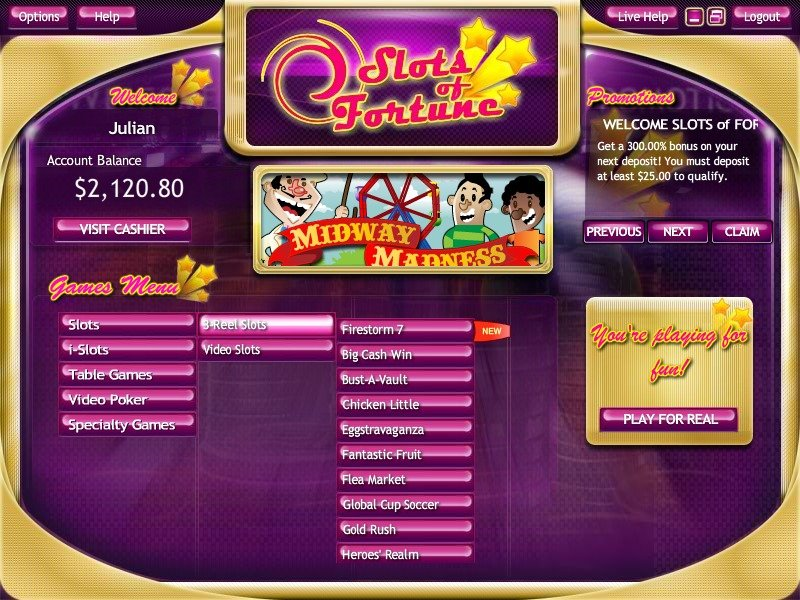 Slots Of Fortune Casino
