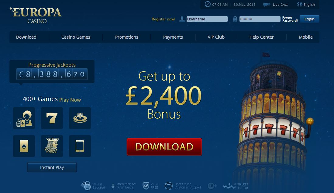 europa play online casino