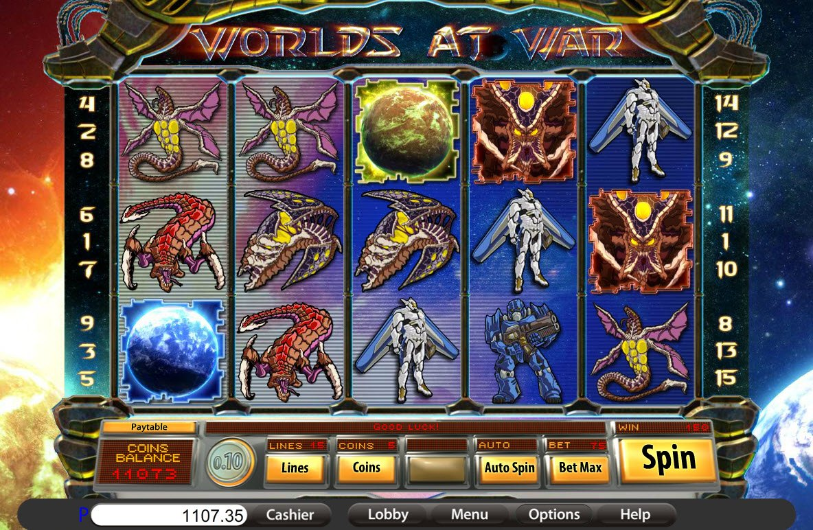 Worlds At War™ Slot Machine Game to Play Free in Saucifys Online Casinos