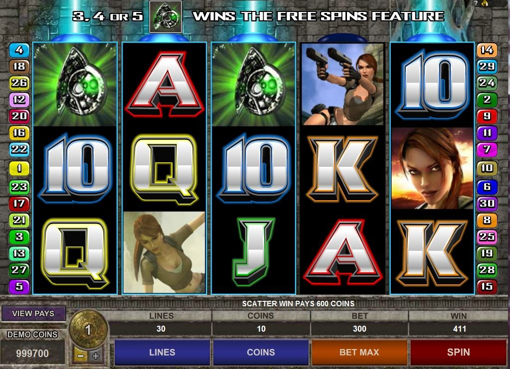 tomb raider slot machine review