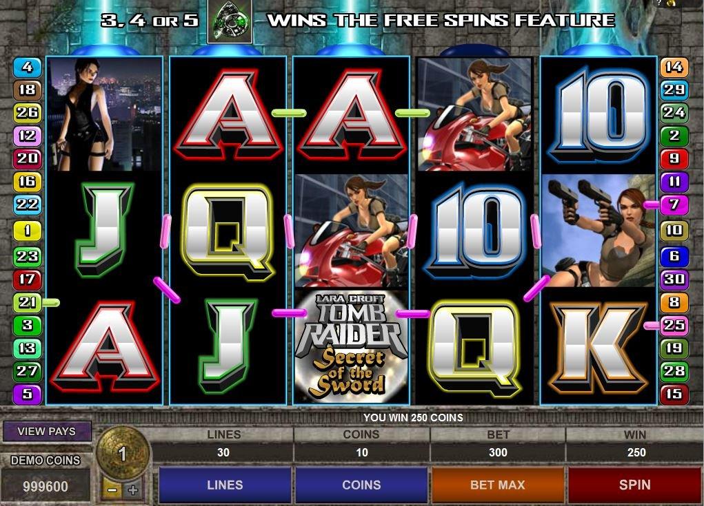 Tomb Raider Slot Machine For Sale