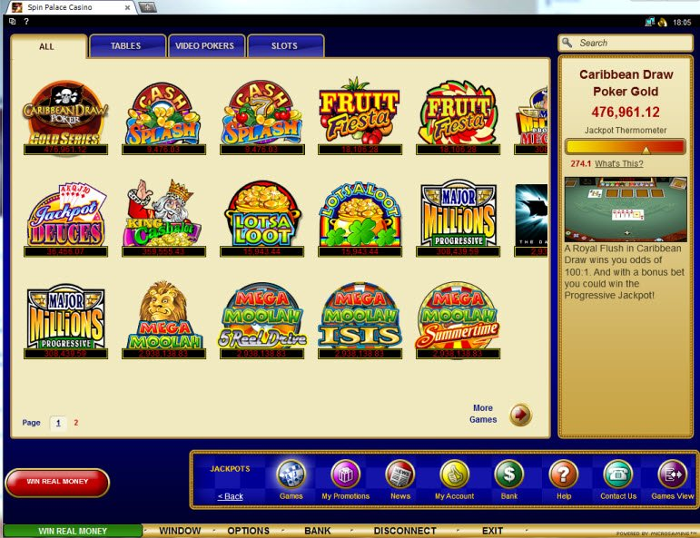 Spin Palace Casino Review - Casino.com India
