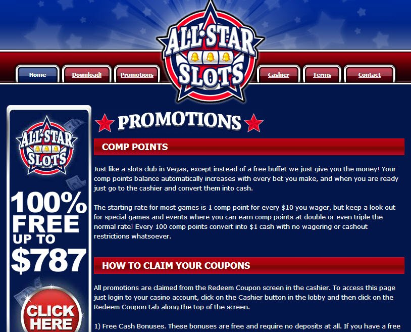 all star slots welcome bonus